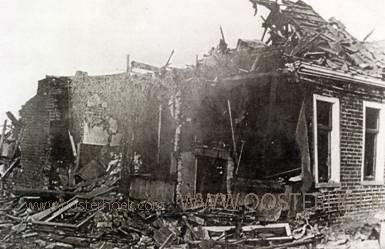 verwoest huis door oorlog